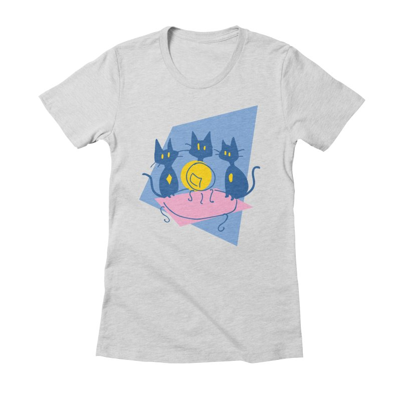 Three Sisters Black Women's Fitted T-Shirt by enorie