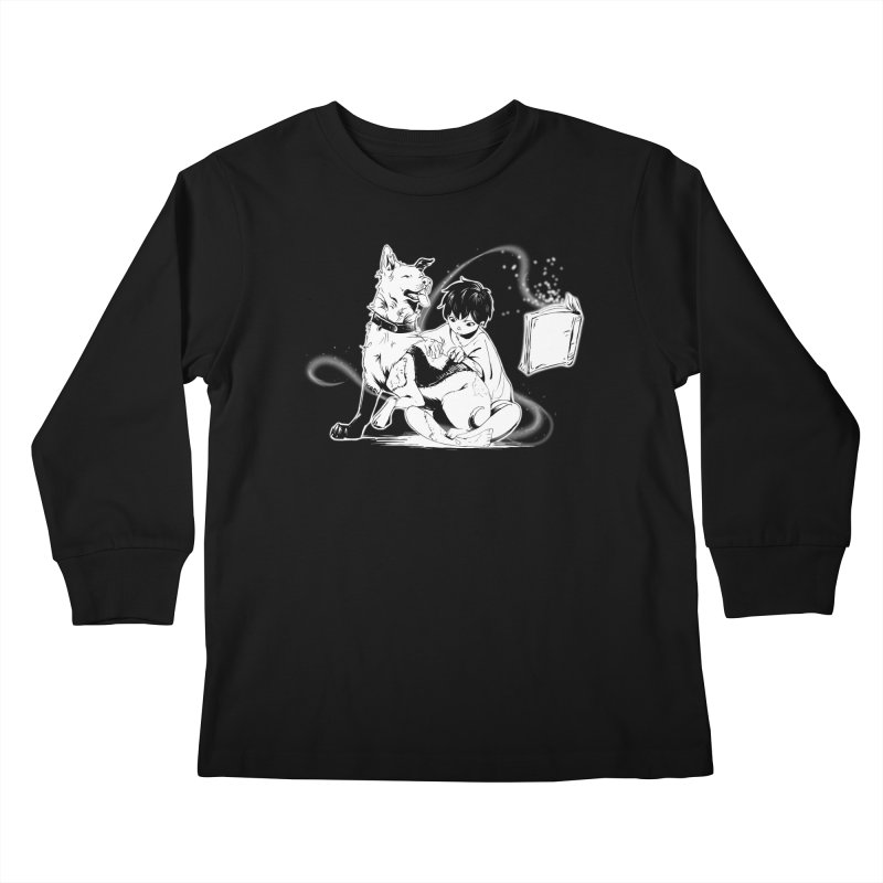 Patchy Witch Kids Longsleeve T-Shirt by enorie