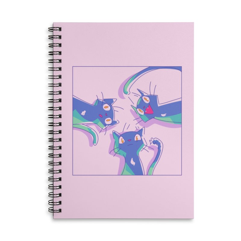 Three Lovely Lasses Accessories Lined Spiral Notebook by enorie