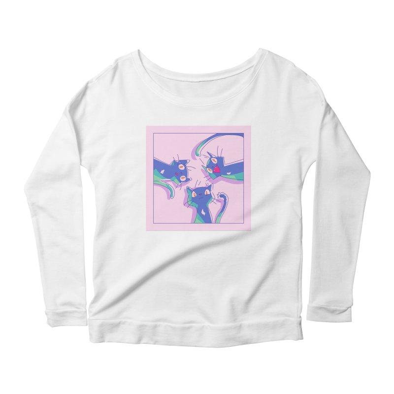 Three Lovely Lasses Women's Scoop Neck Longsleeve T-Shirt by enorie