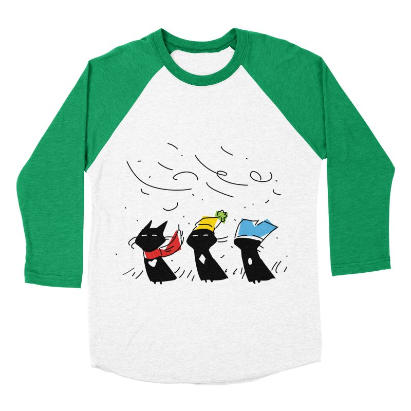 Three Awful Children Men's Baseball Triblend Longsleeve T-Shirt by enorie