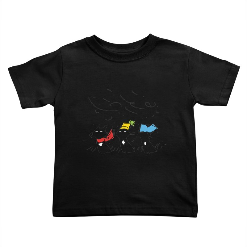 Three Awful Children Kids Toddler T-Shirt by enorie
