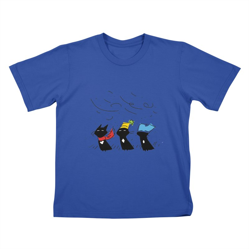 Three Awful Children Kids T-Shirt by enorie