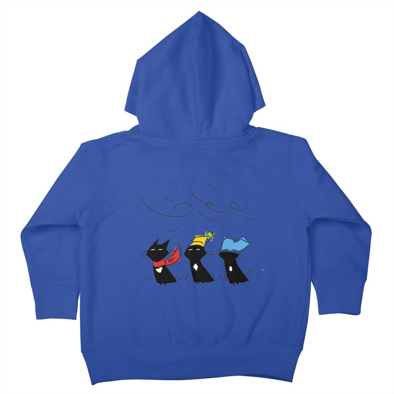 Three Awful Children Kids Toddler Zip-Up Hoody by enorie