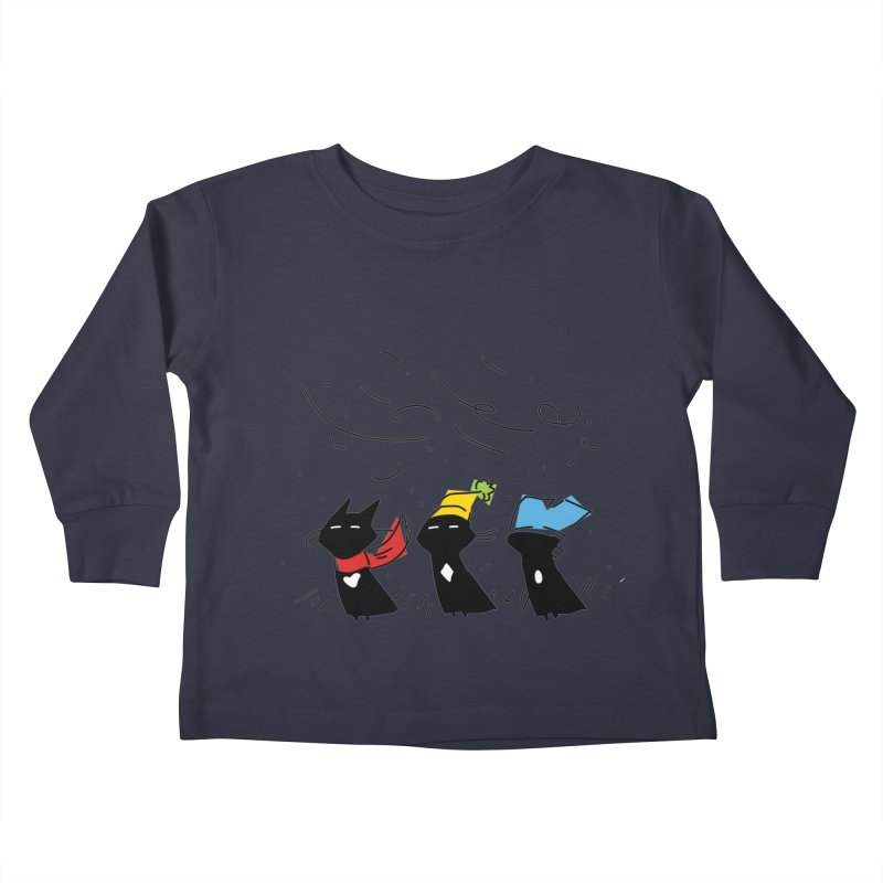 Three Awful Children Kids Toddler Longsleeve T-Shirt by enorie
