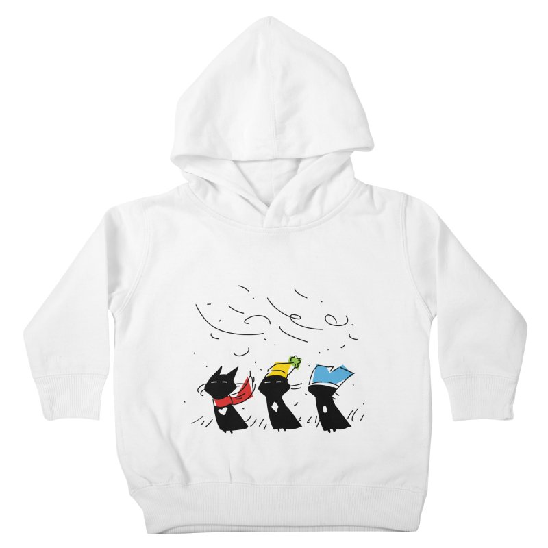 Three Awful Children Kids Toddler Pullover Hoody by enorie