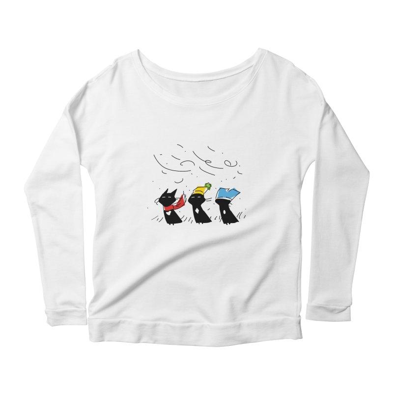 Three Awful Children Women's Scoop Neck Longsleeve T-Shirt by enorie