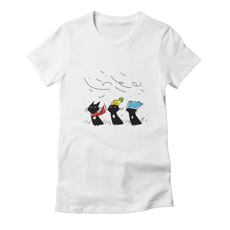 Three Awful Children Women's Fitted T-Shirt by enorie