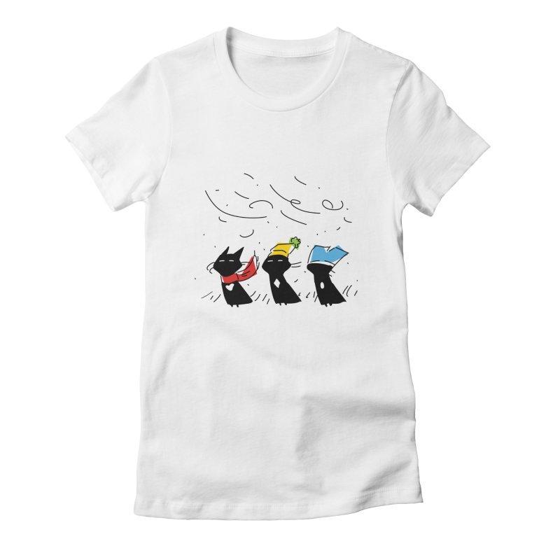 Three Awful Children Women's T-Shirt by enorie