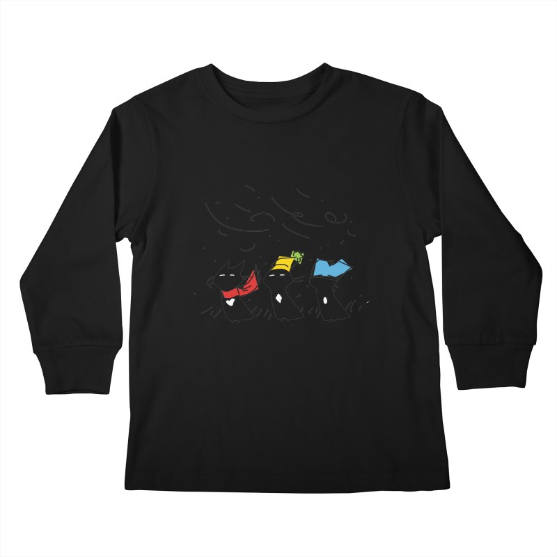 Three Awful Children Kids Longsleeve T-Shirt by enorie