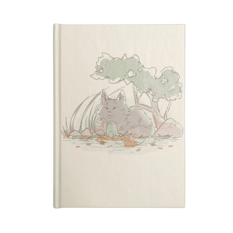 Cat and Frog Accessories Lined Journal Notebook by enorie