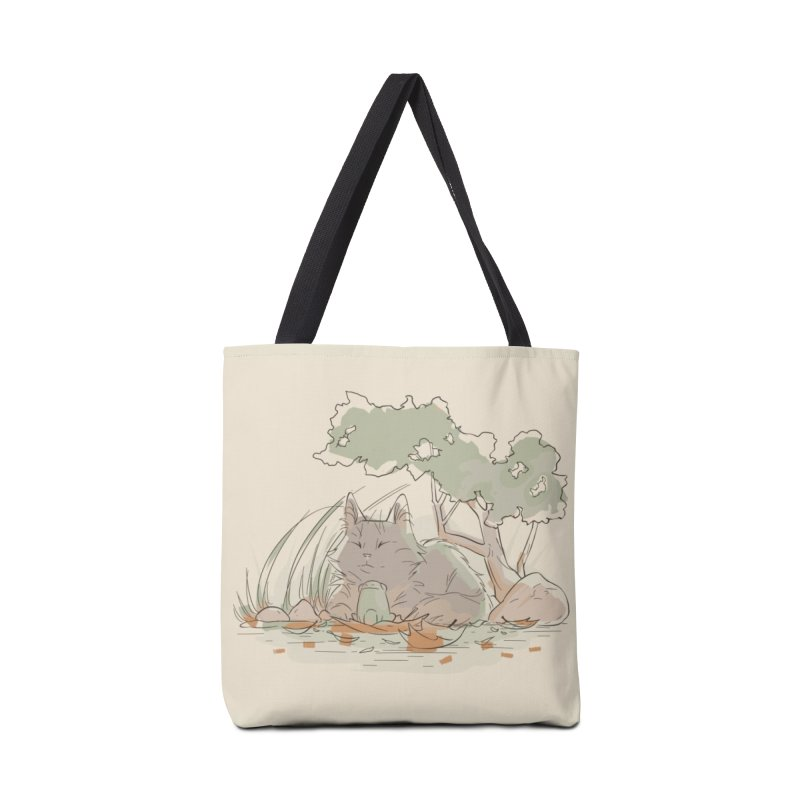 Cat and Frog Accessories Tote Bag Bag by enorie