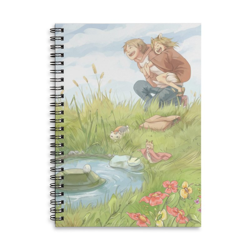 Book of Friends Accessories Lined Spiral Notebook by enorie