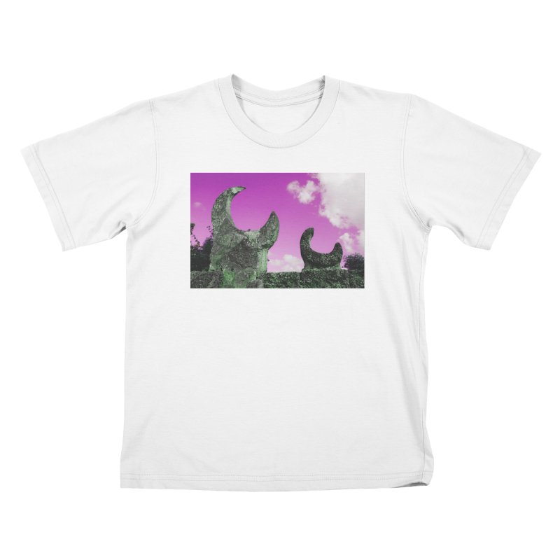 creepy castle Kids T-Shirt by ENRAPTURED CLOTH