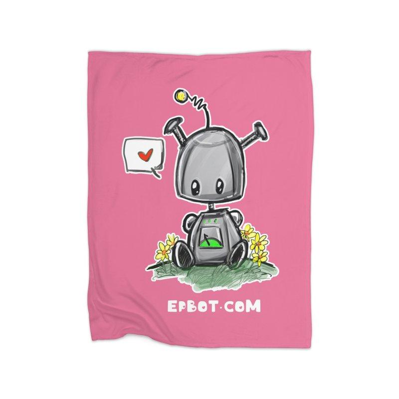 Epbot Baby Tshirt Home Blanket by Epbot's Artist Shop