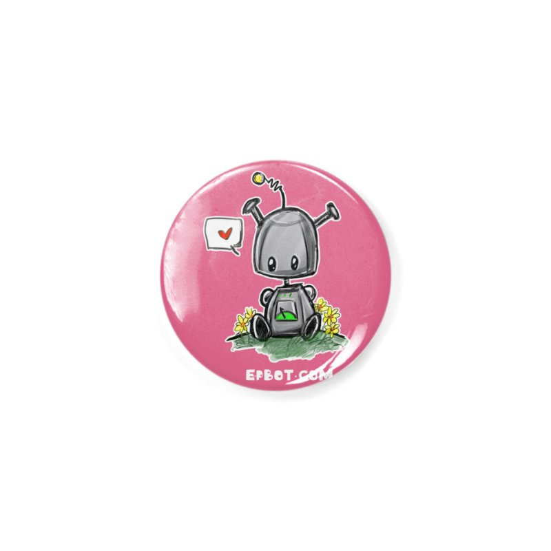 Epbot Baby Tshirt Accessories Button by Epbot's Artist Shop