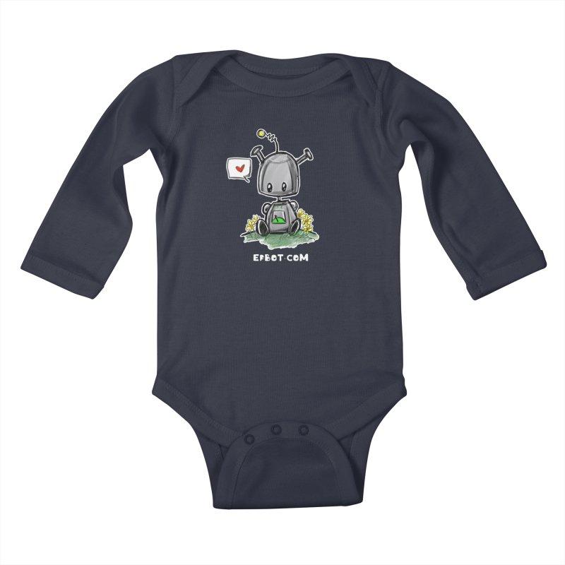 Epbot Baby Tshirt Kids Baby Longsleeve Bodysuit by Epbot's Artist Shop