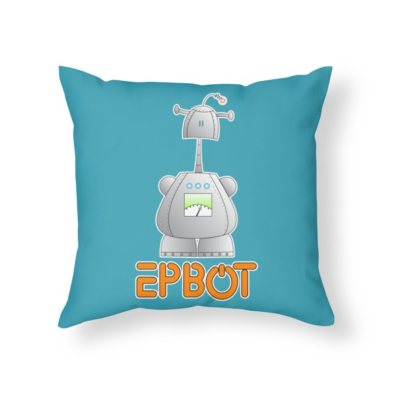 Epbot Original Home Throw Pillow by Epbot's Artist Shop