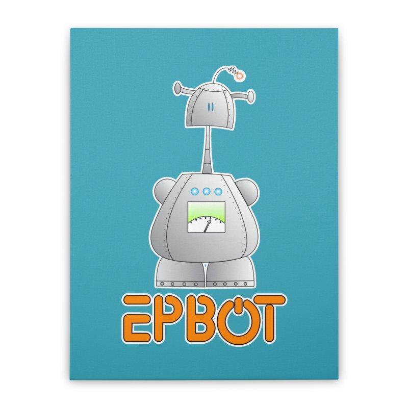 Epbot Original Home Stretched Canvas by Epbot's Artist Shop