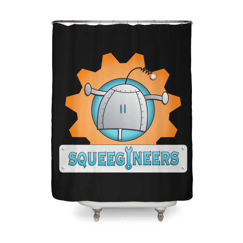 Squeegineers Home Shower Curtain by Epbot's Artist Shop