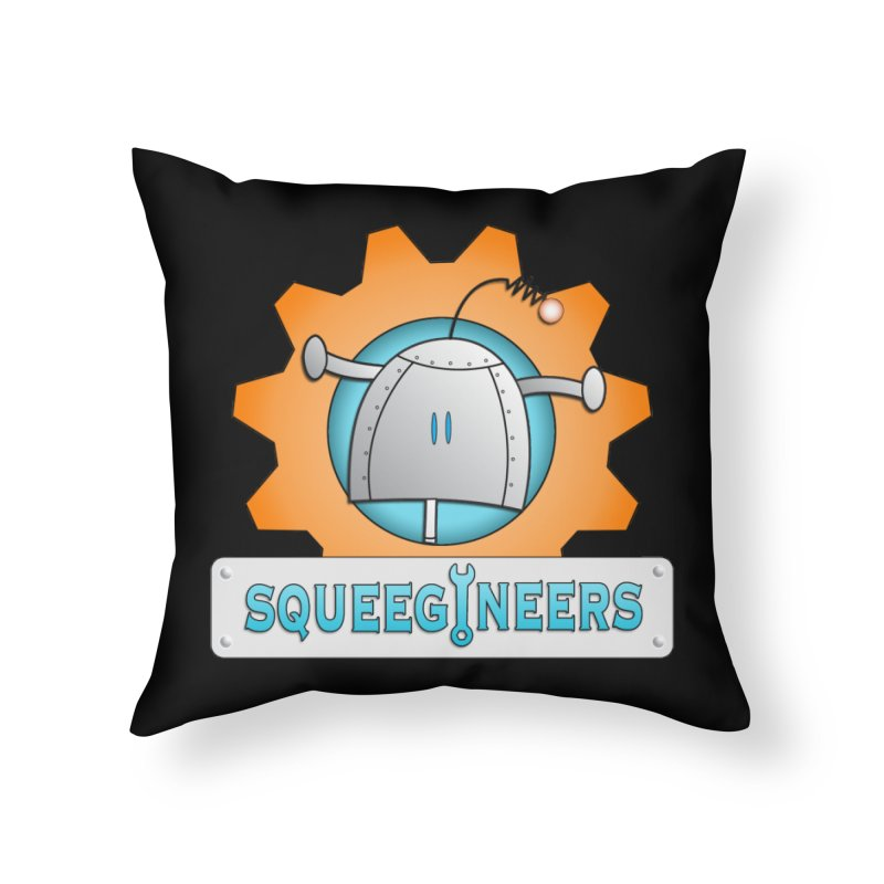 Squeegineers Home Throw Pillow by Epbot's Artist Shop