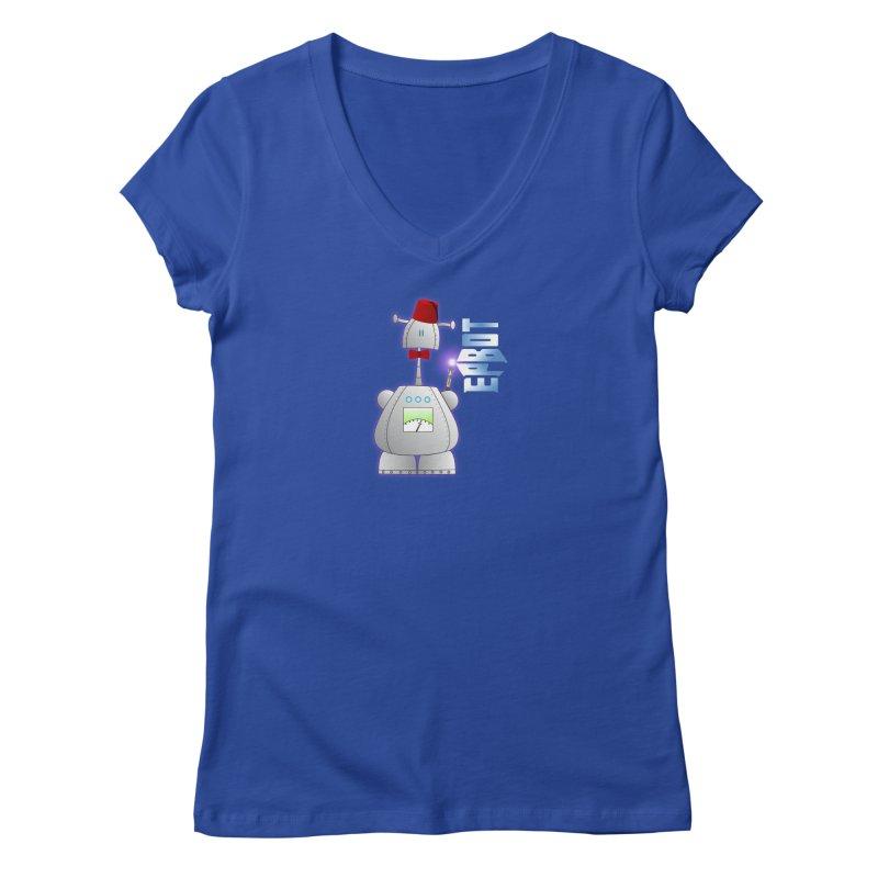 Doctor Epbot Women's V-Neck by Epbot's Artist Shop