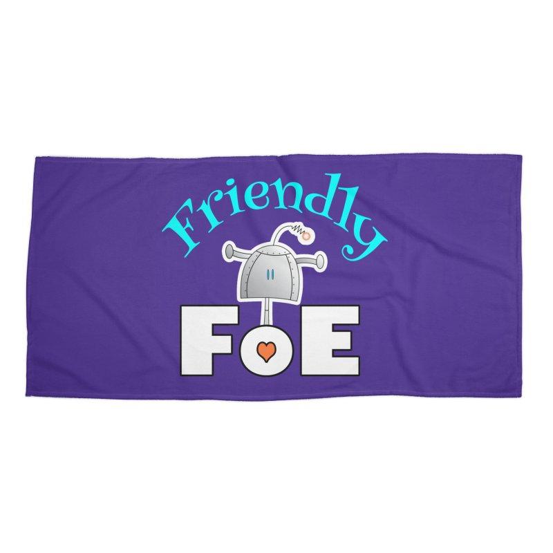 Friendly FoE Accessories Beach Towel by Epbot's Artist Shop