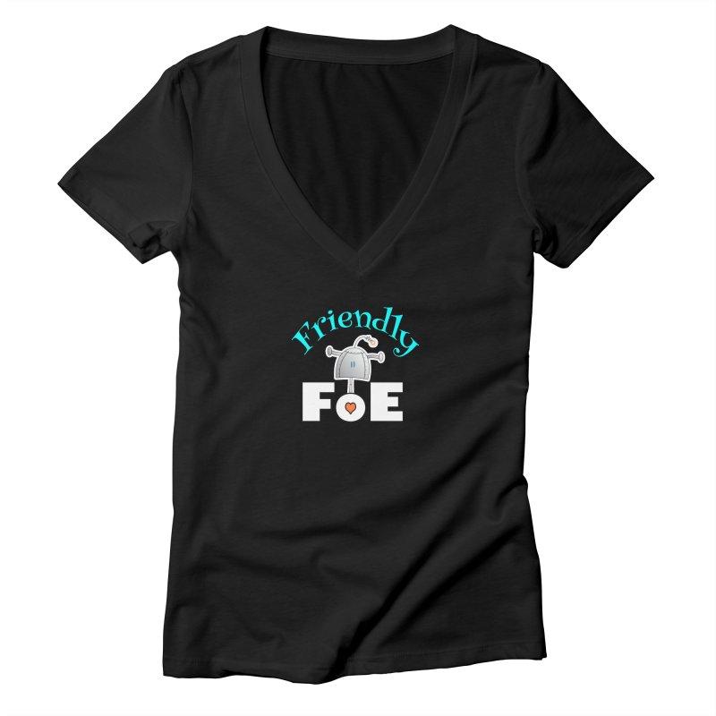 Friendly FoE Women's V-Neck by Epbot's Artist Shop