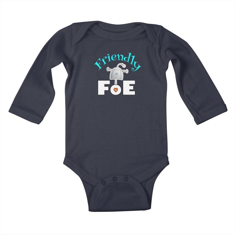 Friendly FoE Kids Baby Longsleeve Bodysuit by Epbot's Artist Shop