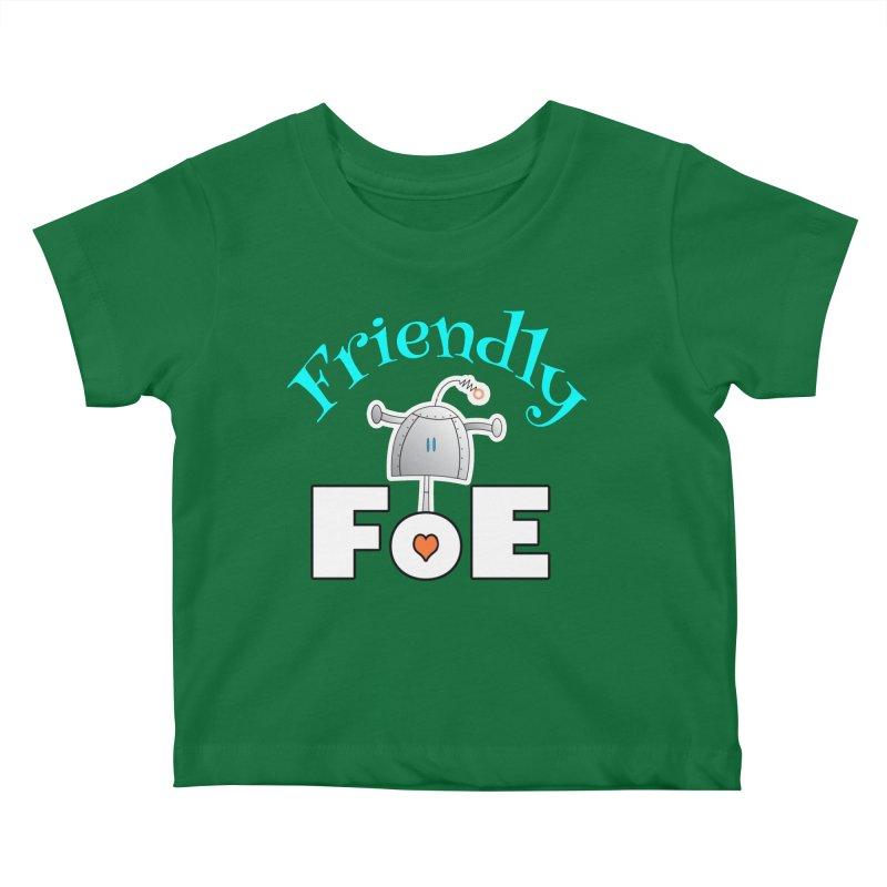 Friendly FoE Kids Baby T-Shirt by Epbot's Artist Shop