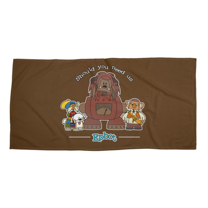Should you need us Accessories Beach Towel by Epbot's Artist Shop
