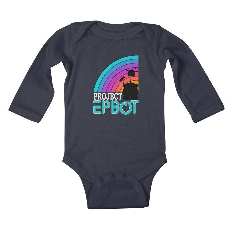 Project Epbot Kids Baby Longsleeve Bodysuit by Epbot's Artist Shop