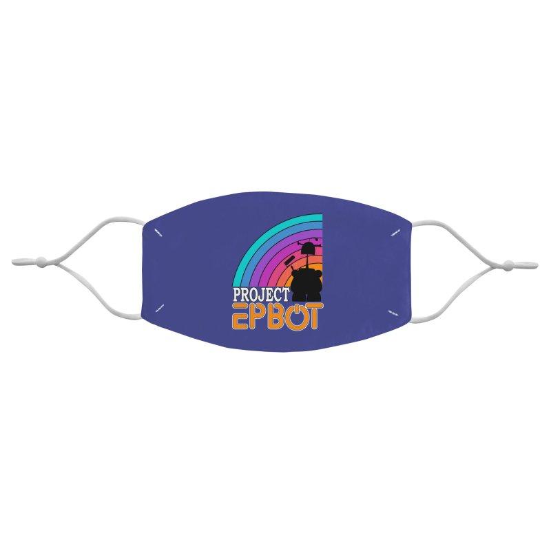 Project Epbot Orange Accessories Face Mask by Epbot's Artist Shop