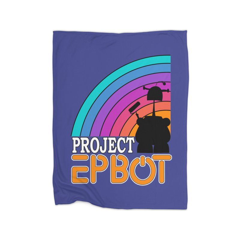 Project Epbot Orange Home Blanket by Epbot's Artist Shop