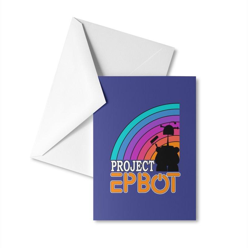 Project Epbot Orange Accessories Greeting Card by Epbot's Artist Shop