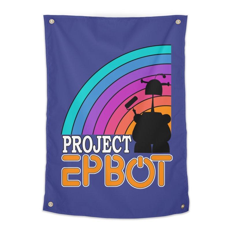 Project Epbot Orange Home Tapestry by Epbot's Artist Shop