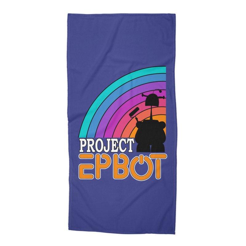Project Epbot Orange Accessories Beach Towel by Epbot's Artist Shop