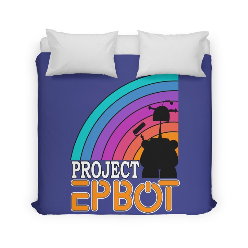 Project Epbot Orange Home Duvet by Epbot's Artist Shop