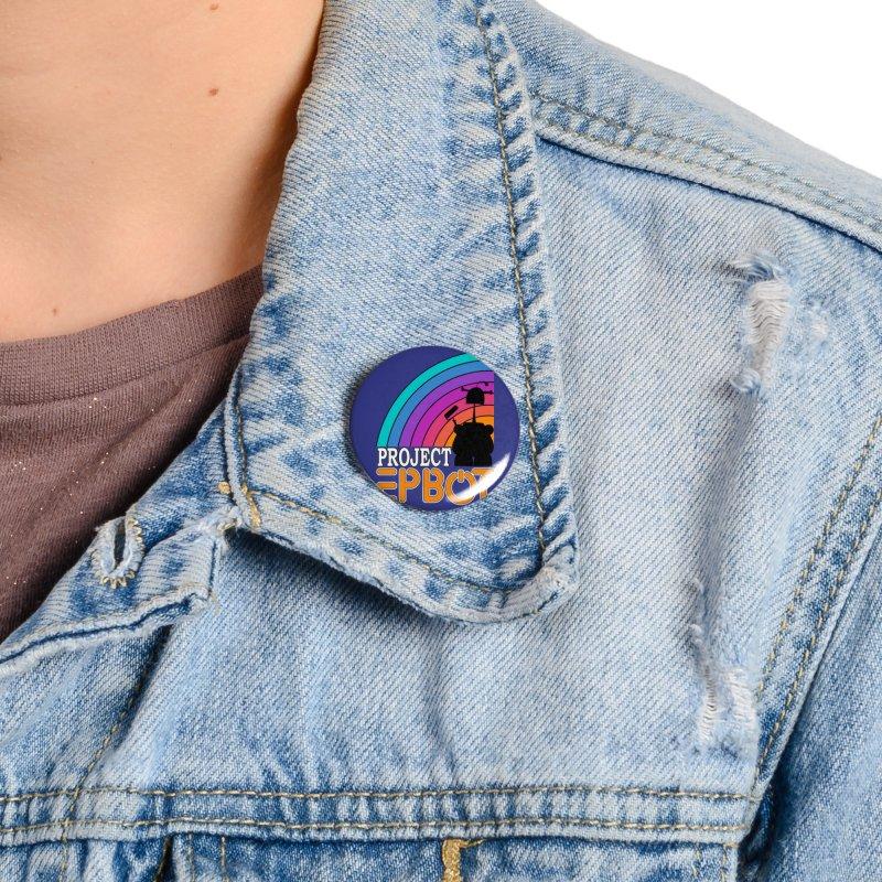 Project Epbot Orange Accessories Button by Epbot's Artist Shop