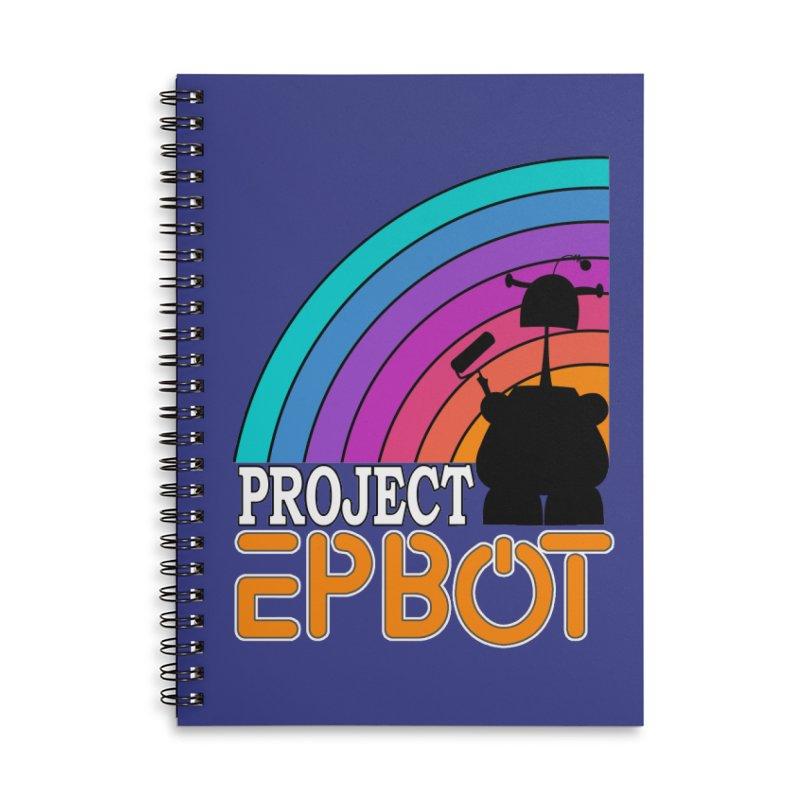 Project Epbot Orange Accessories Notebook by Epbot's Artist Shop