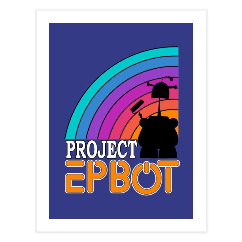 Project Epbot Orange Home Fine Art Print by Epbot's Artist Shop