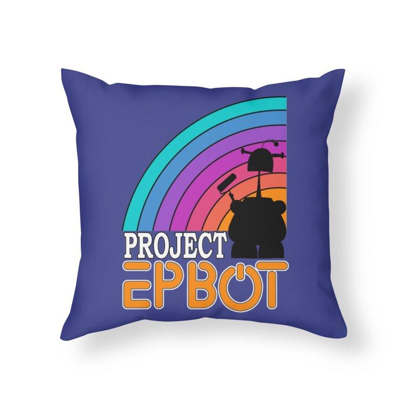 Project Epbot Orange Home Throw Pillow by Epbot's Artist Shop