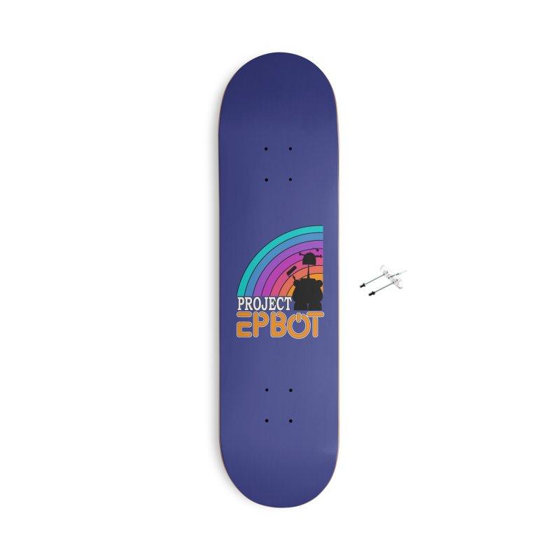 Project Epbot Orange Accessories Skateboard by Epbot's Artist Shop