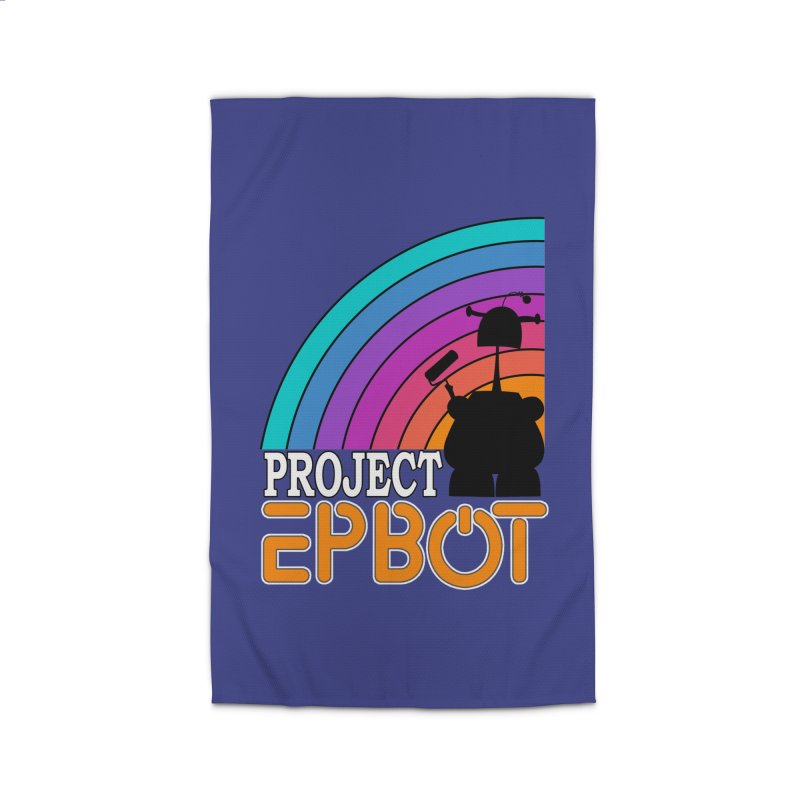 Project Epbot Orange Home Rug by Epbot's Artist Shop