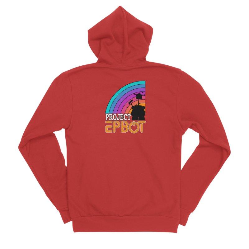 Project Epbot Orange Women's Zip-Up Hoody by Epbot's Artist Shop