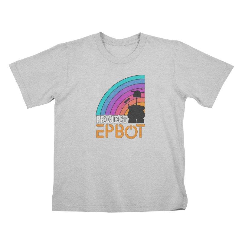 Project Epbot Orange Kids T-Shirt by Epbot's Artist Shop