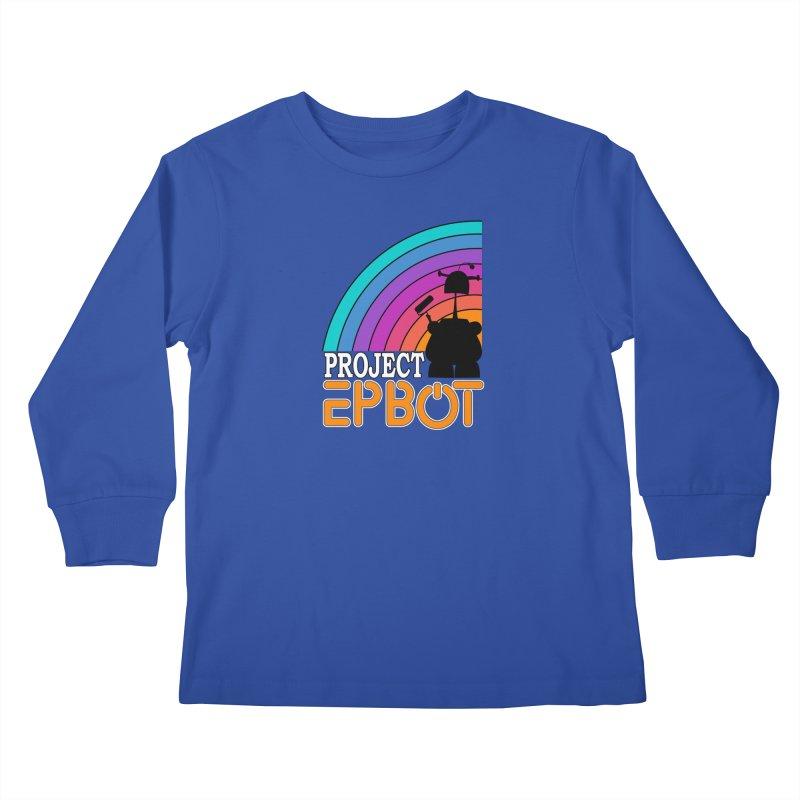 Project Epbot Orange Kids Longsleeve T-Shirt by Epbot's Artist Shop