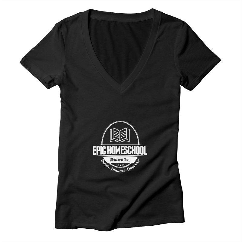 EPIC Homeschoolers Apparel Women's V-Neck by EPIC Homeschoolers Merch Shop