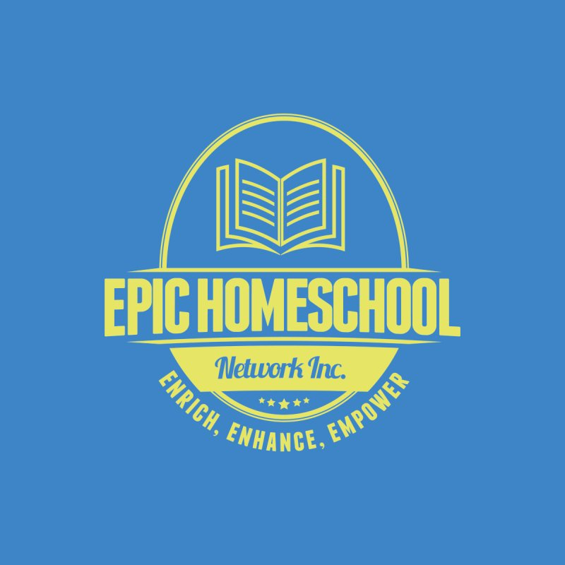 EPIC Homeschoolers Merchandise - Blue & Gold Women's V-Neck by EPIC Homeschoolers Merch Shop