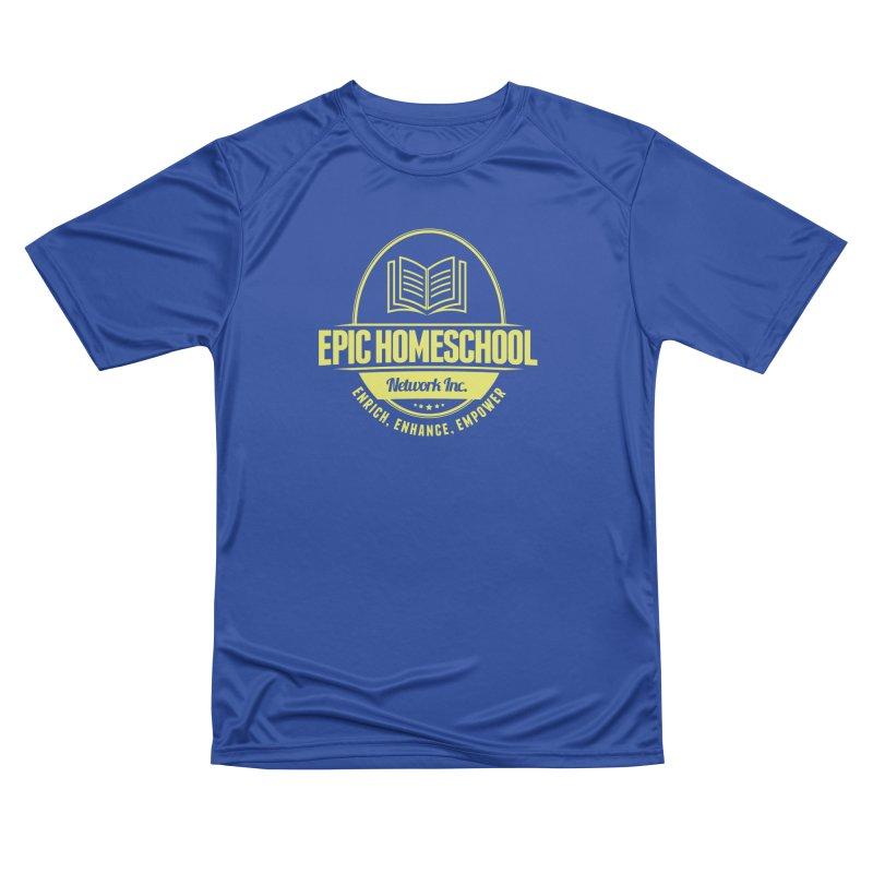 EPIC Homeschoolers Merchandise - Blue & Gold Men's T-Shirt by EPIC Homeschoolers Merch Shop